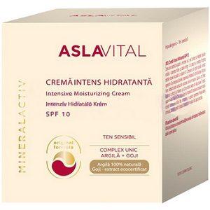 Aslavital crema 50 ml regeneranta cu argila spf 10