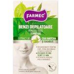 Farmec benzi depilatoare ceara gel 20 buc fata bambus+ceai